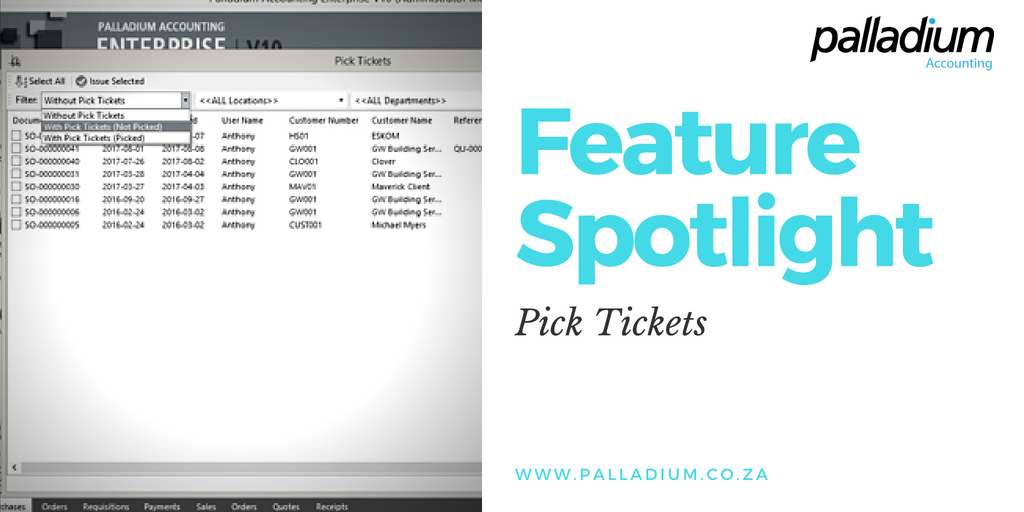 Feature Spotlight: Pick Tickets