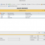 Delivery charge maintenance sales invoice