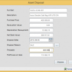 Fixed Assets create asset disposal reason codes for reporting 1