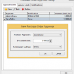 Purchase Order Approval setup