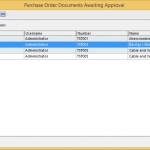 Purchase Order Approval waiting