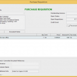 Purchase Order requisition accept