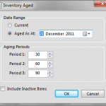 Reports inventory aging