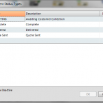 Setup Document Status Types