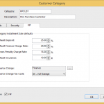 Tender Type and HP setting up customer categories