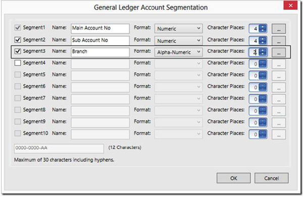 SUP105 – Segmented General Ledger